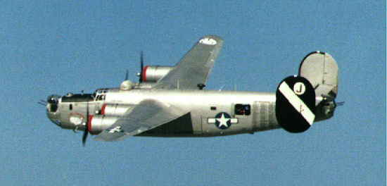 B-24 in flight