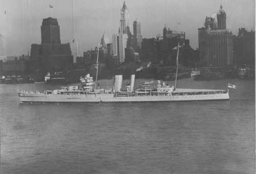 HMS York (90) of the Royal Navy - British Heavy cruiser of ...