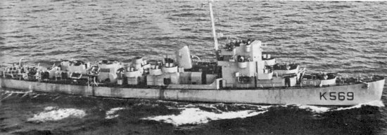 Hms Mounsey K 569 Of The Royal Navy British Frigate Of